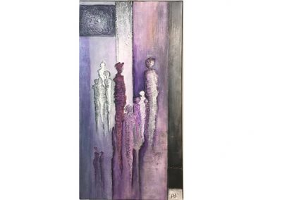 Schilderij met mensen langwerpig