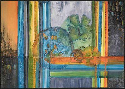 Kleurrijk schilderij abstract